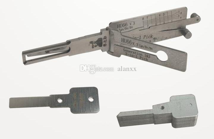 LISHI HU66 V3 2-in-1 Auto Pick and Decoder for Audi Ford VW Porsche Seat Skoda locksmith lock pick tool