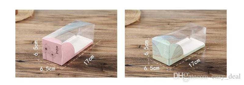 17 * 6.5 * 6.5 cm caja de torta de la ventana clara diy pastel de chocolate panecillo caja de regalo de la galleta mousse vitrina de exhibición ZA5550