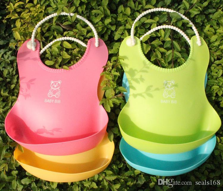 DHL New Baby Infants Kids Cute Bibs Lunch Bibs Newborn Children Waterproof Towel Washable Feeding Silicone Burp 0-6T ZJ-B04