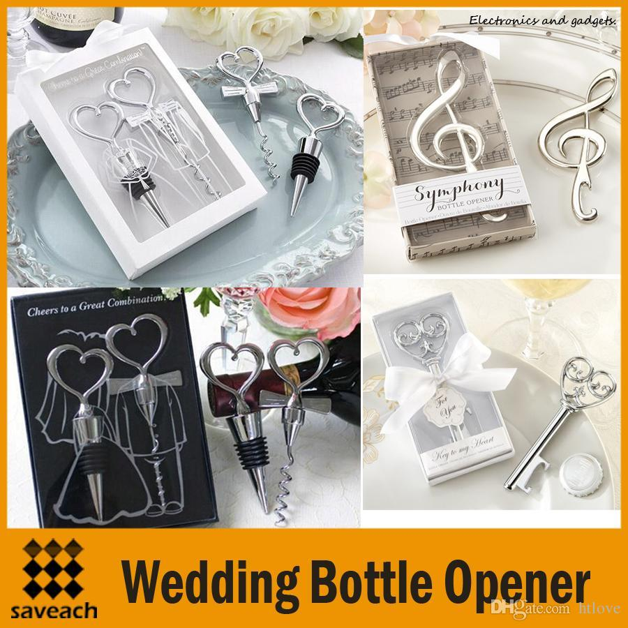 Wedding Bottle Opener Personalised Gift Wedding Bottle Favors Wine ...