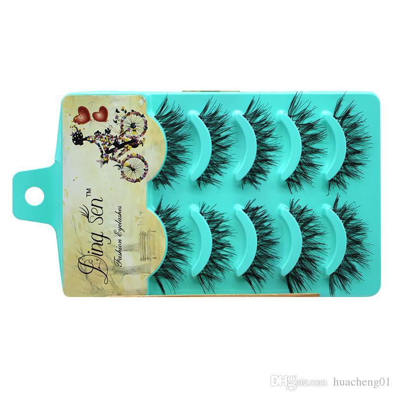 Falsche Wimpern Extensions Natürliche Dicke Lange Gefälschte Wimpern Handgemachte Make-Up Werkzeug Kreuz Messy Eye Lashes von DHL