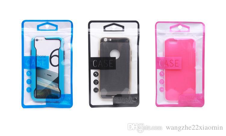 grossist kraftfullt superskydd dragkedja plast detaljhandel förpackning väska för telefonväska till iPhone 5s 6 6Plus