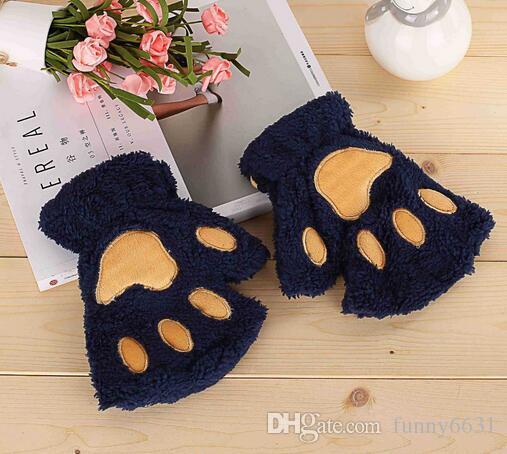 Хэллоуин Рождество этап выполнения опора косплей кошка медведь Лапа Коготь перчатки партия выступает зимой милый высокое качество женщина мультфильм кошка перчатки