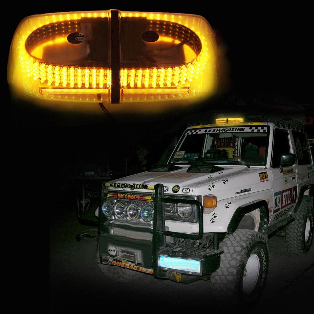 / Kehribar 240 Roof Top Acil Tehlike Uyarı Flaş LED Beacon Strobe Işık Mini Light Bar