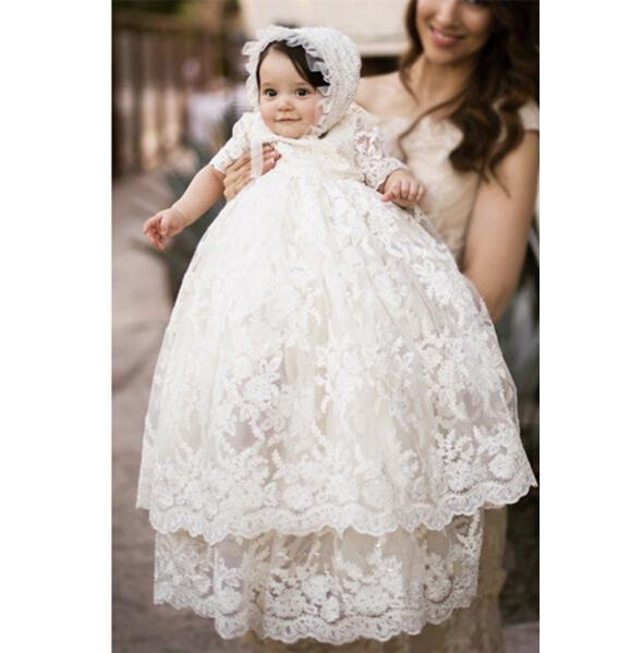 2017 2017 High Quality Baptism Gown Baby Girls Christening Dress ...