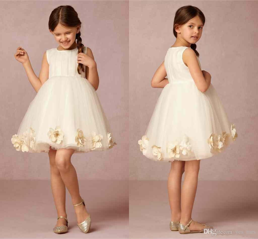 2016 cheap cute flower girls dresses for wedding jewel for Average wedding dress cost 2016