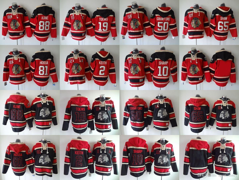 Compre Chicago Blackhawks Sudadera Con Capucha Jerseys Baratos Del ...
