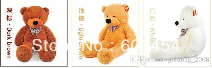 Recheado Gigante 80 CM Grande Rosa Urso De Pelúcia Urso Enorme Macio 100% Algodão Boneca Presente Novo