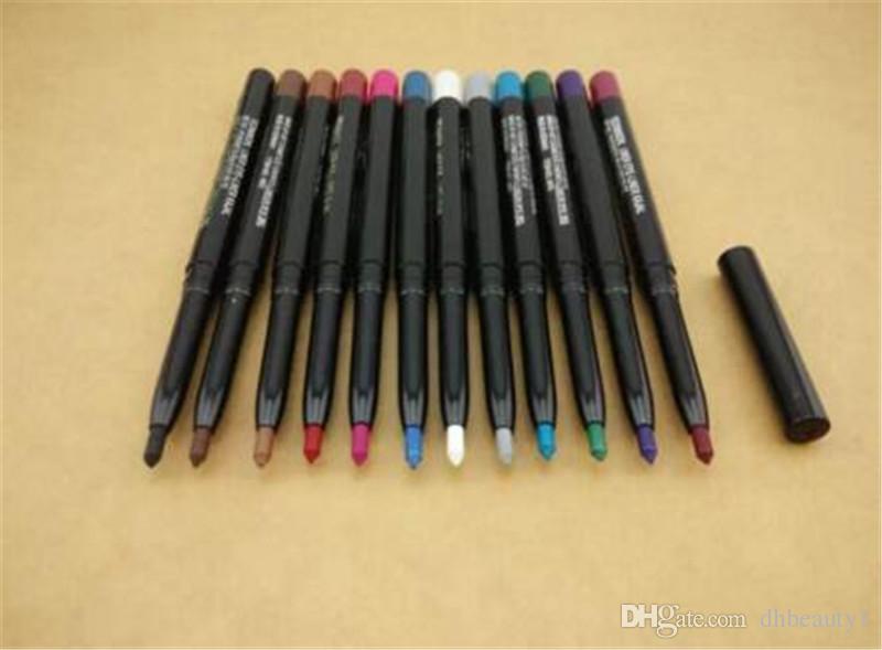 12 لون العلامة التجارية M eyeliner lip liner eyeliner أقلام تحديد العيون الجديدة أنماط Auto rotate multifunction liner