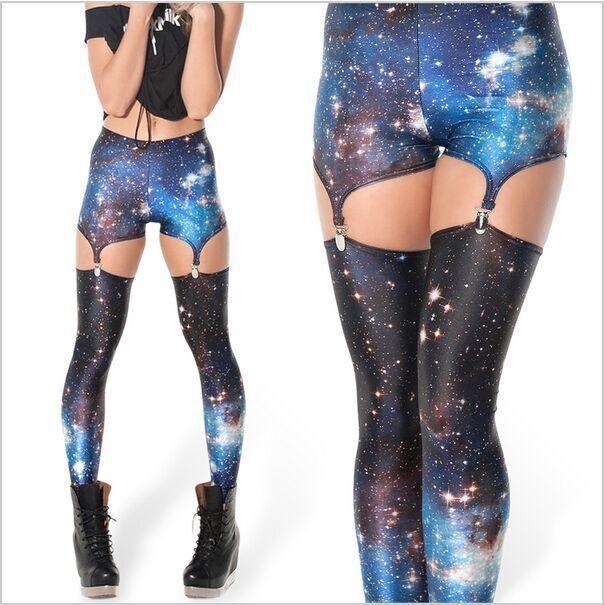 9984db3052 2019 New Black Milk Galaxy Leggings Suspenders Leggings Women Galaxy Legging  Black Milk Plus Size XXL XXXL Punk Print Fitness Fashion From Losangelesd,  ...