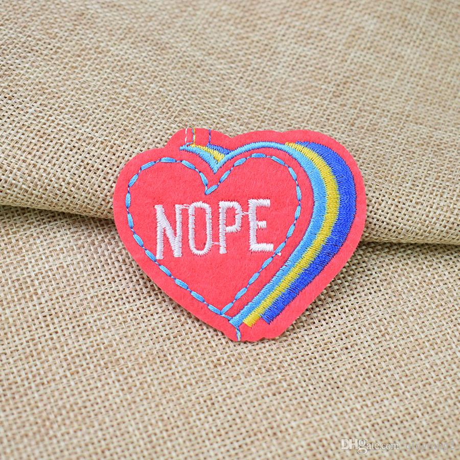 heart-shaped patches for clothing iron embroidery patch for clothes applique sewing accessories badge stickers on cloth iron on patch