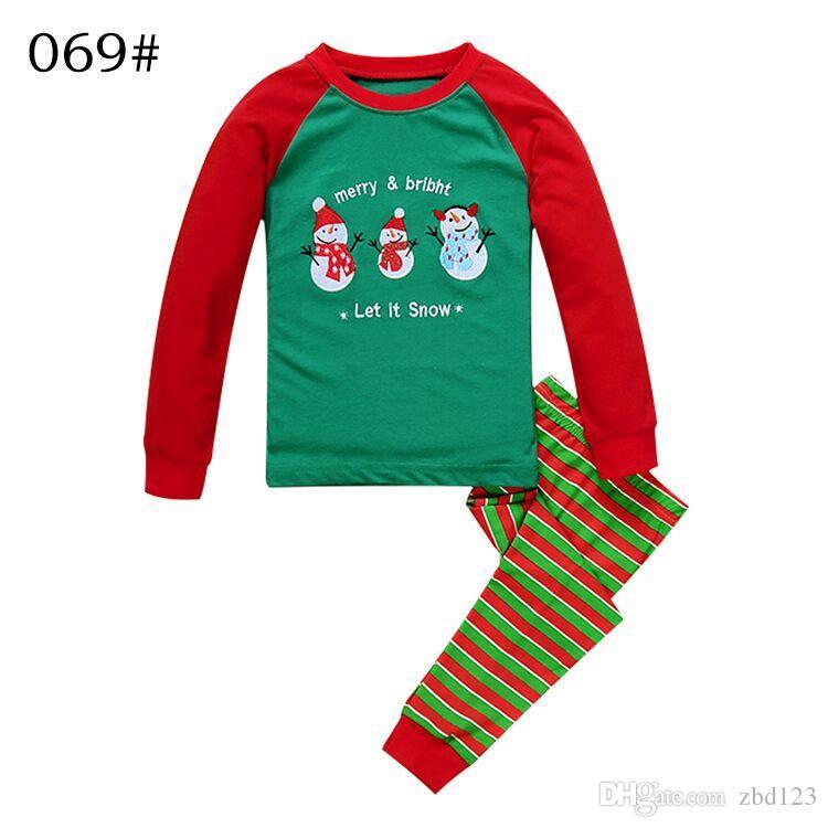 Green Striped Christmas Santa Claus Pyjamas Pjs Set Boys Girls ...