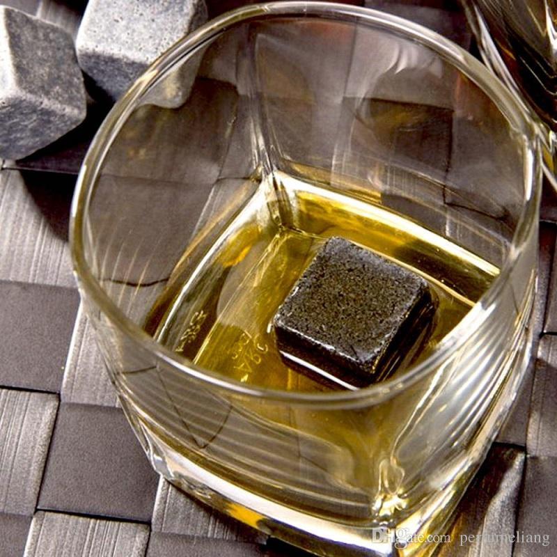 50 satz 9 teile / satz 100% Natürliche Whiskey Stones Sipping Eiswürfel Whisky Stein Whiskey Rock Cooler Hochzeitsgeschenk Favor Weihnachts Bar ZA0942