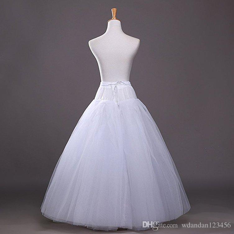 2017 جديد إمرأة الأبيض خط hopless التنورة الداخلية تحتية القرينول زلات الزفاف اكسسوارات الطابق طول غير مخصص شحن مجاني 0222
