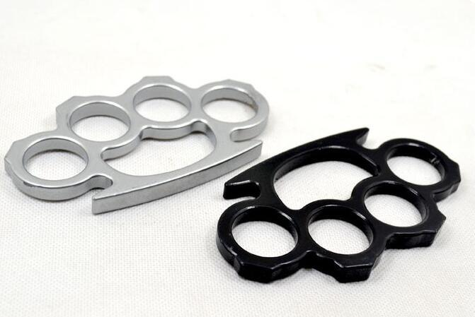 20PCS (Silver Black ) Thin Steel Brass knuckle dusters,Self Defense Personal Security Women's and Men's self-defense Pendant