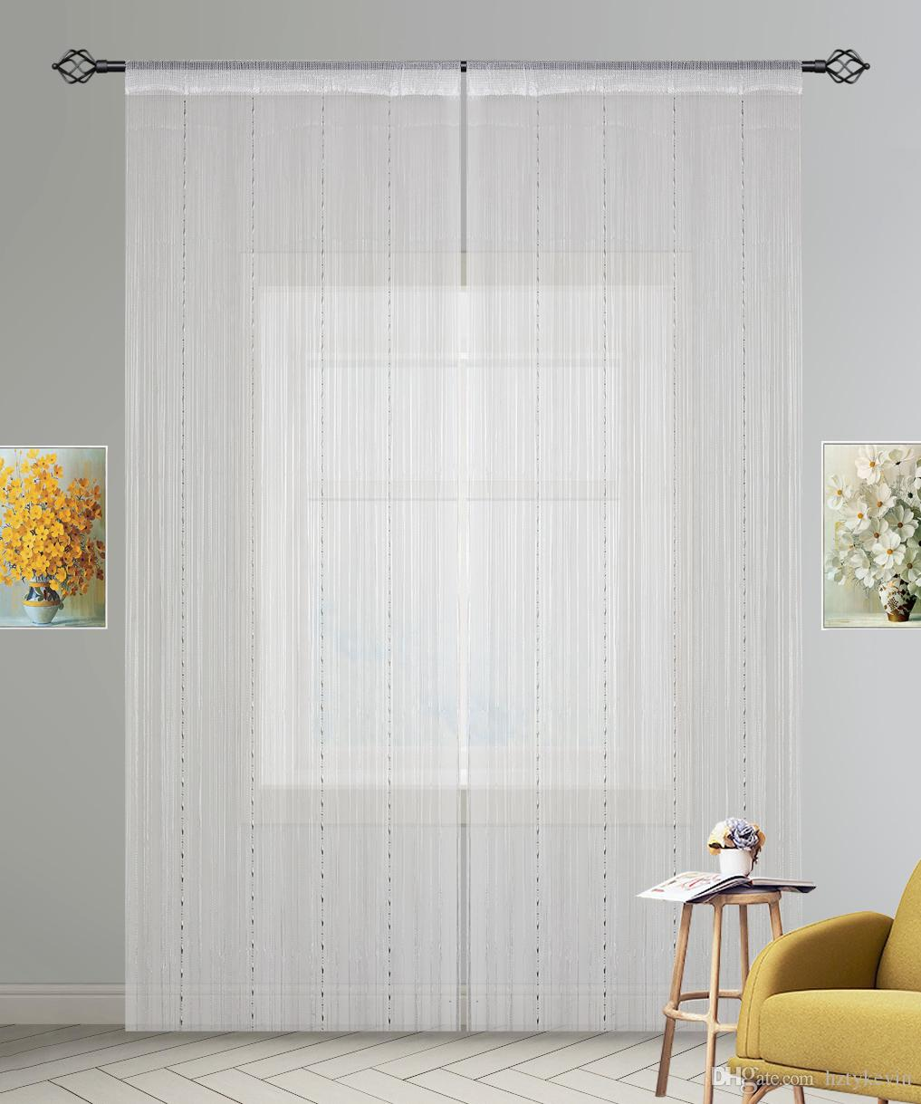 2018 White Beaded String Curtain With Plastic Beads Chain Door