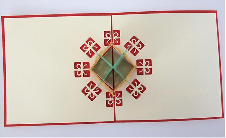 Экологичный Рождественские открытки 3d Handmade всплывал Поздравительные открытки Подарочные карты Xmas подарков Бумага Подарочные карты Party праздник Приглашение