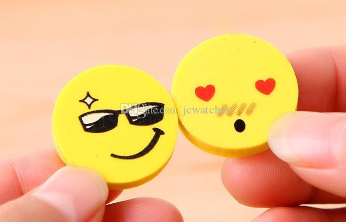Cute Smiling Face Eraser Cartoon Emoji Eraser Rubber for Pencil Students Kids Funny Cute Stationery Office Accessories School Supplies