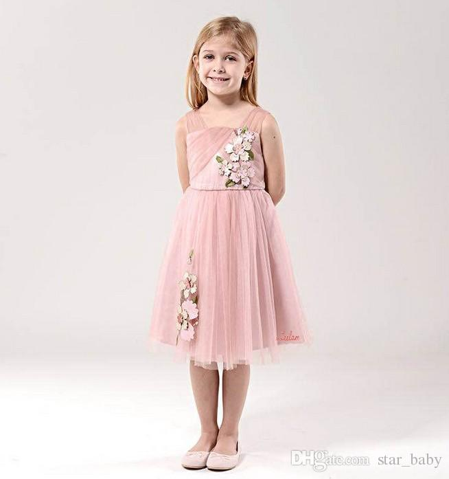9150f9801c95 Princess Girls Summer Party Dress Handmade Leather Flower Big Girls ...