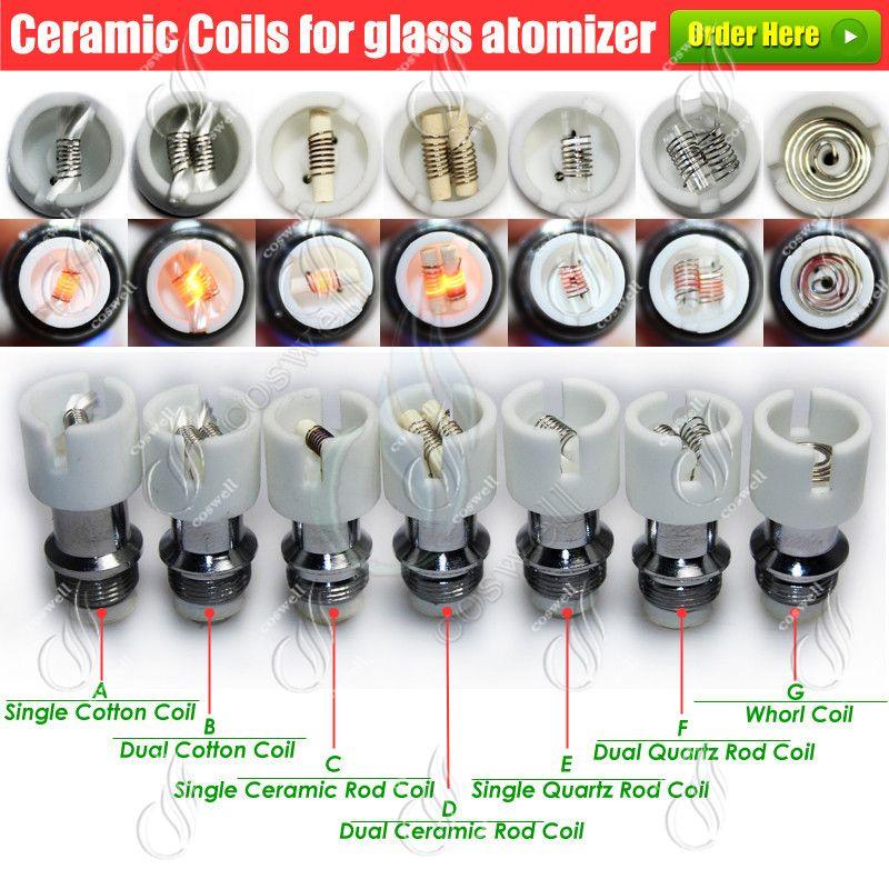 Top Glass globe atomizer Pyrex Wax dry herb Tank vaporizer herbal dual ceramic Quartz Dome coils glassomizer vape pen vapor e cigs Atomizers