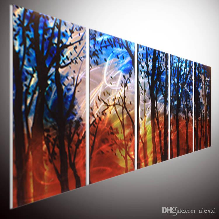 2018 Modern Contemporary Abstract Painting Abstract Wall Art Metal ...