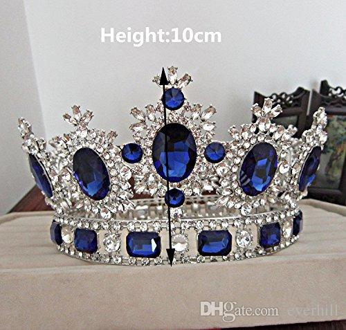 Western Style Red Dimand Crystal Head Jewelry Princess Queen Wedding Party Hair Accessories Headwear Baroque Bridal Crown Tiaras And Crowns