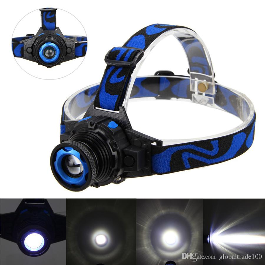 Cree Q5 3-Modes 500 Lumens LED Rechargeable Focus Headlight Headlamp Zoomable Head Lamp Spotlight Lantern For Hunting US EU Charger