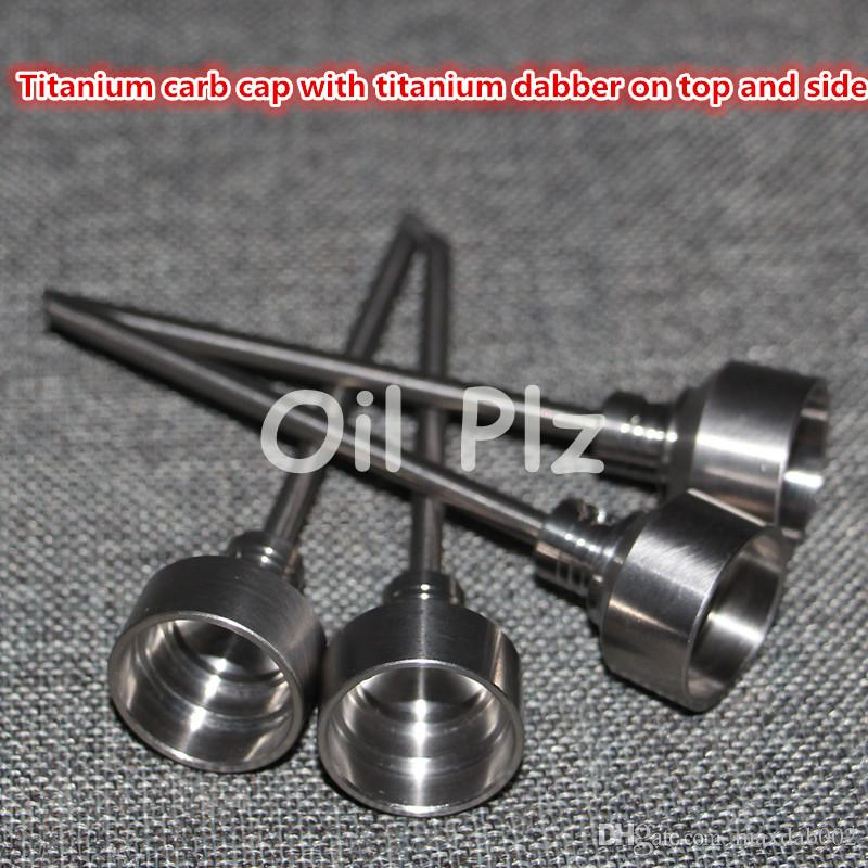 4-in-1 Titanium nail carb cap with side arm 14mm/18mm male & female Banger Nail for glass bong water pipe