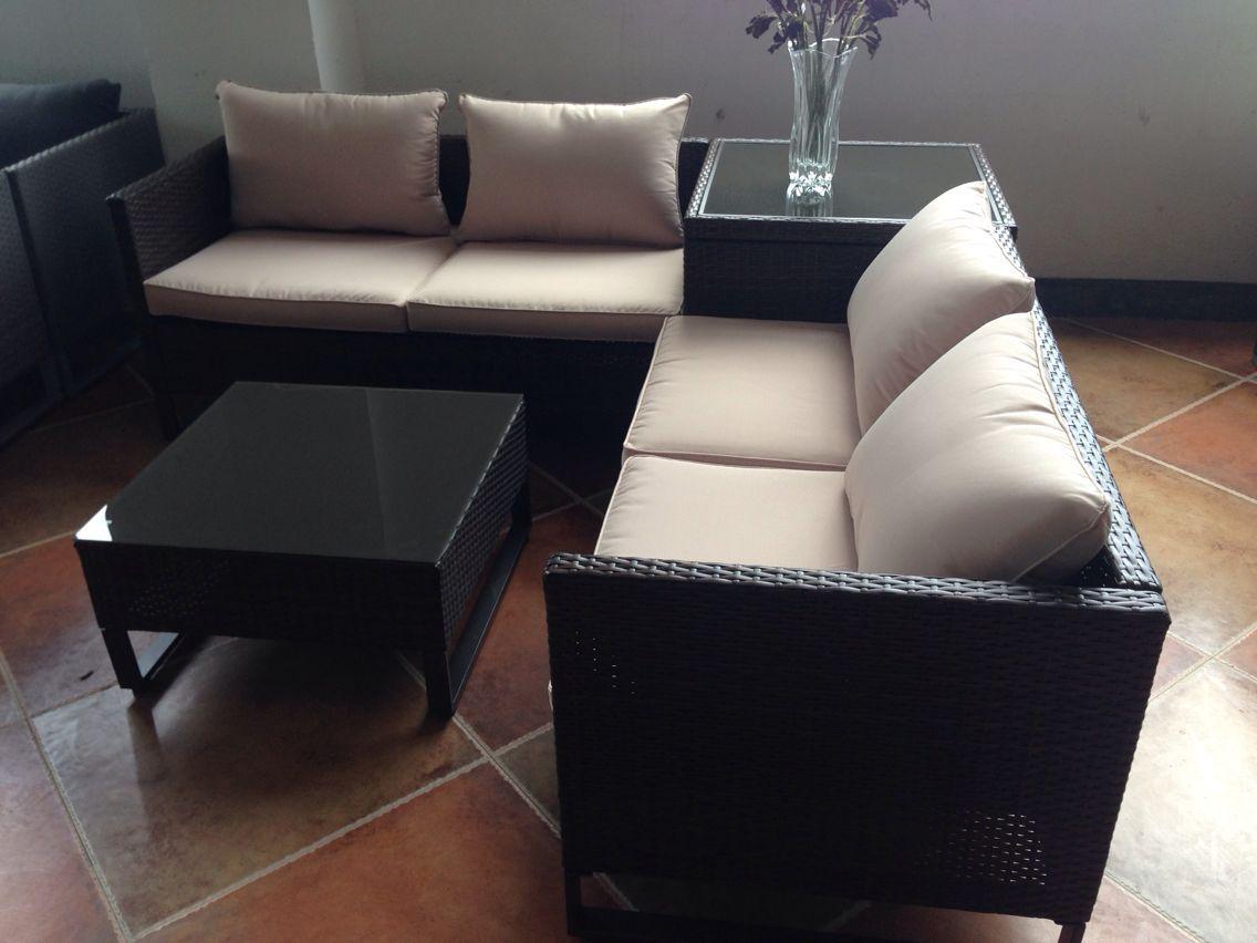 Compre Muebles Al Aire Libre Muebles De Jardín Sofá Set Nueva Rattan ...