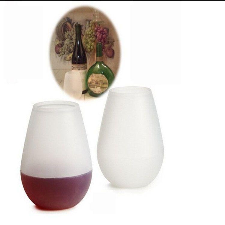 Silikon Öl Vin Cup Cups Fällbara Silikon Vinglasögon UnBreceable Collapsible Stemless Beer Whisky Glass Drinkware för Camping