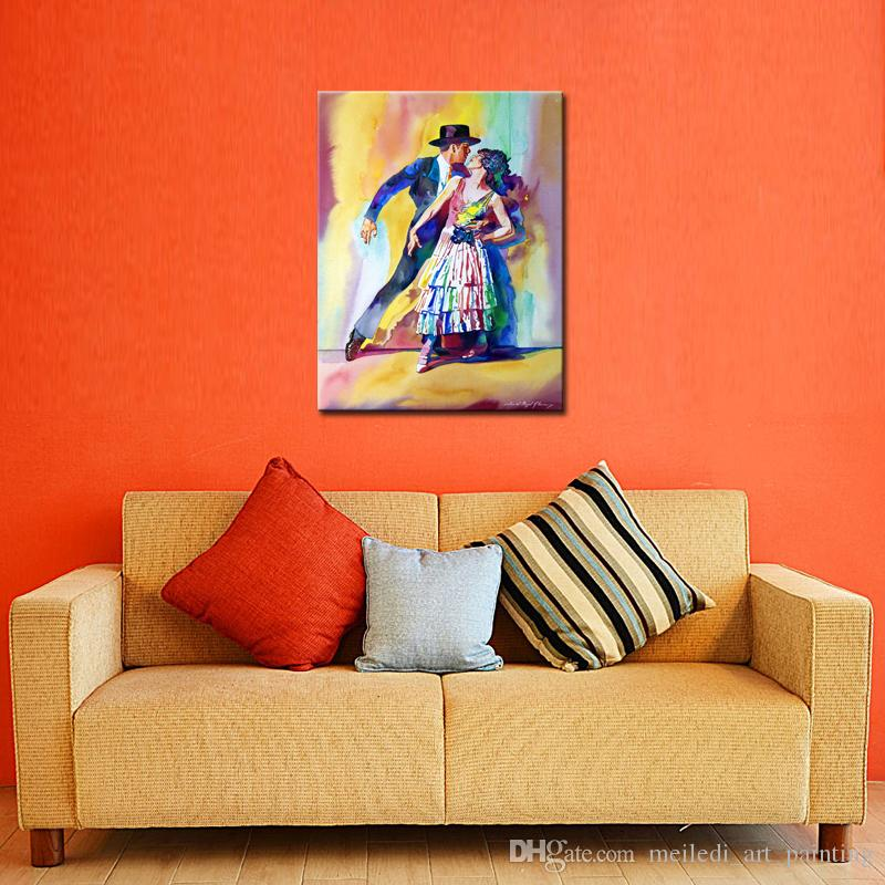 Online Cheap Painting No Framed Modern Canvas Paintings Double Tango Portrait Wall Art Oil Bed Room Decorative Pictures By Meiledi