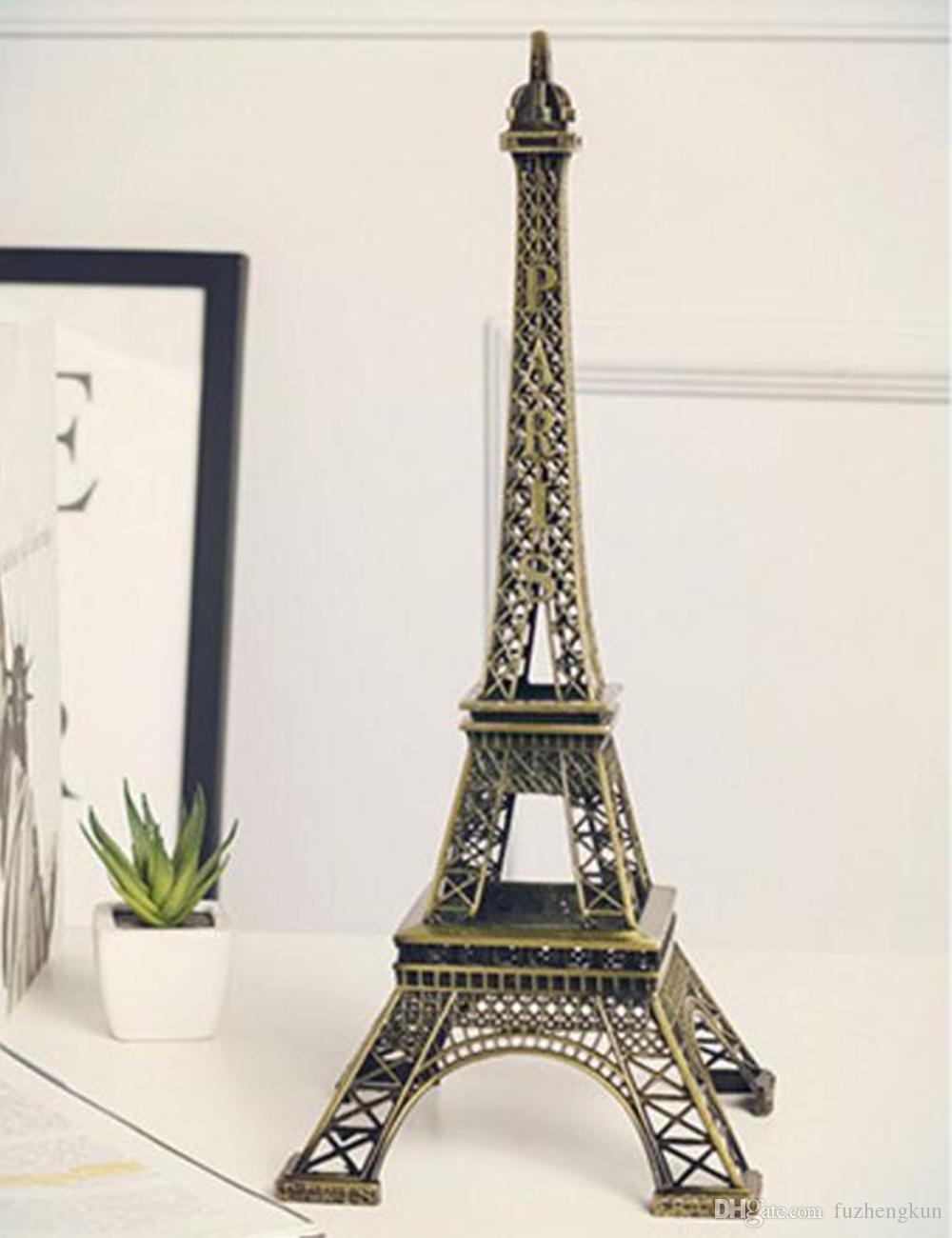 Top vendendo metal modelo Torre Eiffel para decoração de casa 1 conjunto =