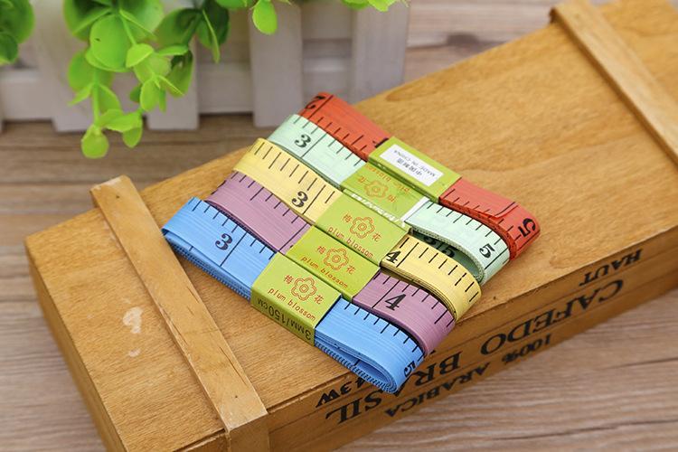 멀티 컬러 측정 눈금자 3MM 바디 테이프 측정 길이 150CM 60 인치 소프트 눈금자 바느질 재단사 눈금자 도구 눈금자 규칙