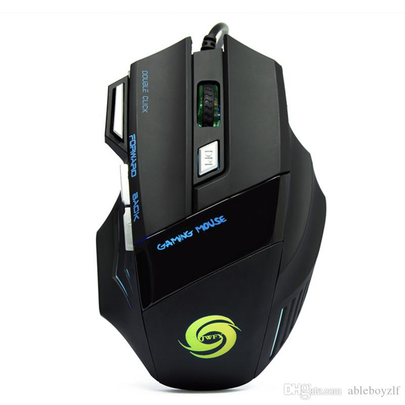 3200 DPI LED Optical 7 buttons with scroll wheel USB Wired Gaming Game Mouse 3200 DPI Pro Gamer Computer Mice For PC