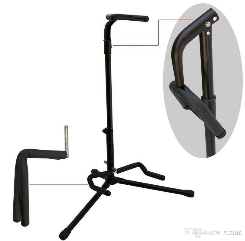 online cheap guitar rack vertical rack folding electric guitar acoustic guitar stand guitar. Black Bedroom Furniture Sets. Home Design Ideas
