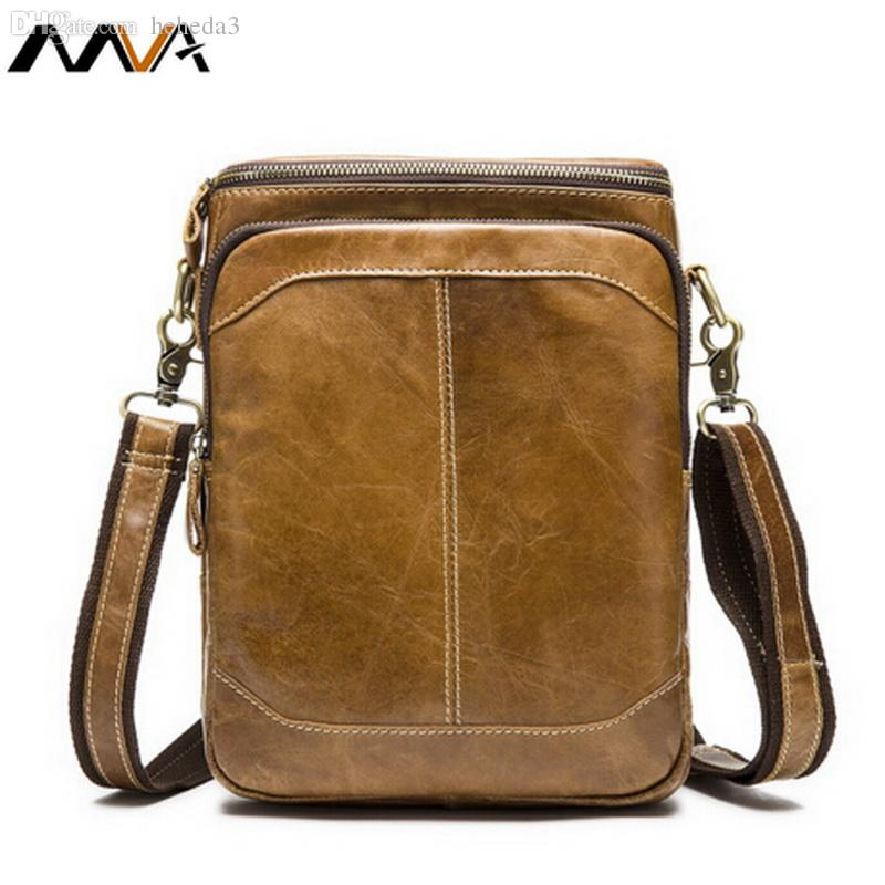 Wholesale Hot Sale 100% Genuine Leather Bag Vintage Leather Men Bags Cow  Leather Crossbody Bags Sport Travel Shoulder Messenger Bag Men Cross Body  Purse ... 927b13ad0c8a8