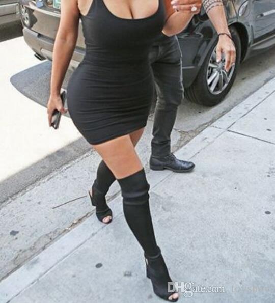 Frauen in overknee stiefel