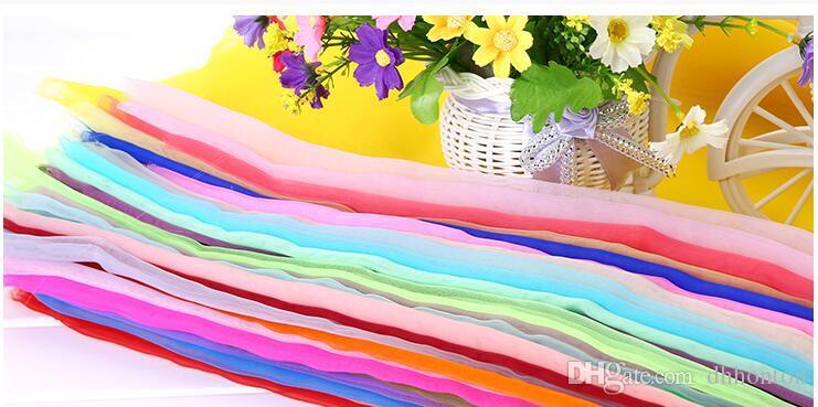 Organza-Yard Hochzeit Dekorationen Geburtstag Party Dekoration Voile für Zuhause dekorative Kleidung verwenden heißer Verkauf HW009