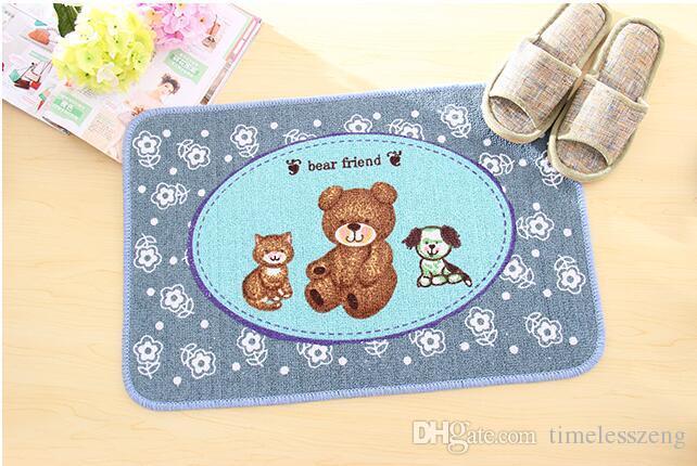 Alta calidad Corea lindo pequeño oso pastoral Baño Absorbente Tapete Alfombrilla Alfombrilla Alfombrilla antideslizante