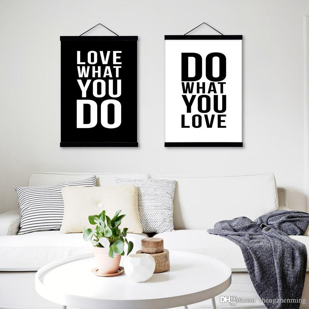 Love Quotes Wall Art 2018 Minimalist Black White Motivational Typography Love Quotes A4
