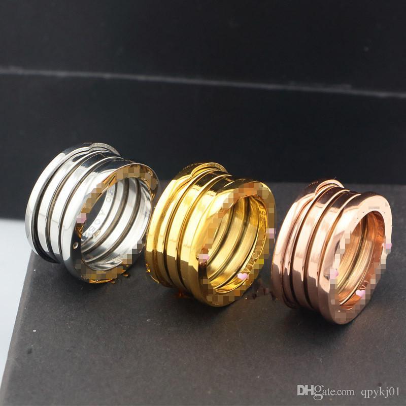 Heißer Verkauf klassische Marke Frühling Ringe Edelstahl Liebe Ring für Frauen Männer Paare Ehering feinen Schmuck Großhandel