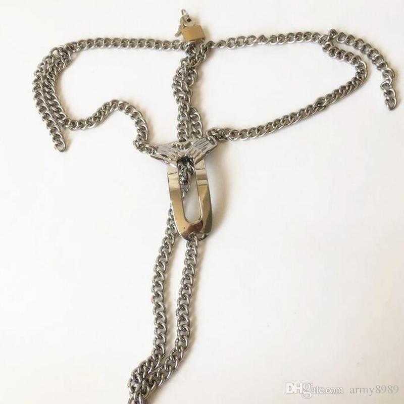Edelstahl Keuschheitsgürtel Höschen Sex Bondage Slave Geräte Fetisch, tragen für Frau Sexspielzeug, verstellbare Taille