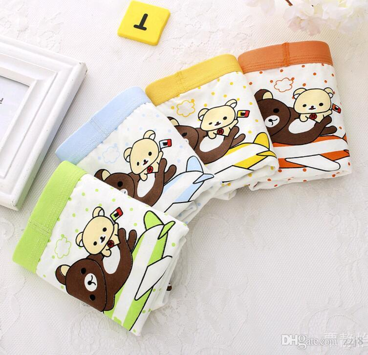 Wholesale Cartoon Combed Cotton Children Underwear Boys Boxer Briefs S-XXL SIZES fit 2-15 years old kids