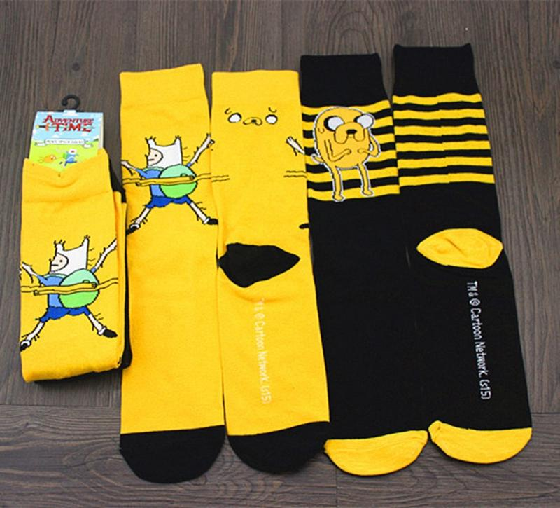 See larger image - Cartoon Movie Character Adventure Time Finn Jake Children Scoks