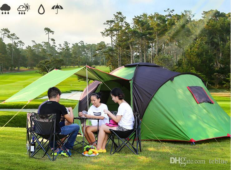 20c6ef16062ba Acheter Haute Qualité 4 6 Personne Voyage En Plein Air Camping Tente Plage  Pêche Tente Famille Fête Équipe Tentes DHL Expédition De $355.13 Du Teblue  ...