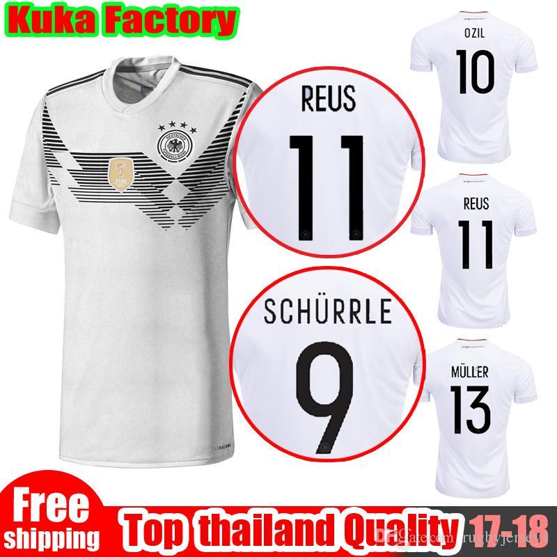 3b4b084b4 ... Home Jersey 2018 New Germany 2018 World Cup Jersey Muller Soccer Jerseys  17 18 19 Deutschlan SCHWEINSTEIGER OZIL Gotze ...