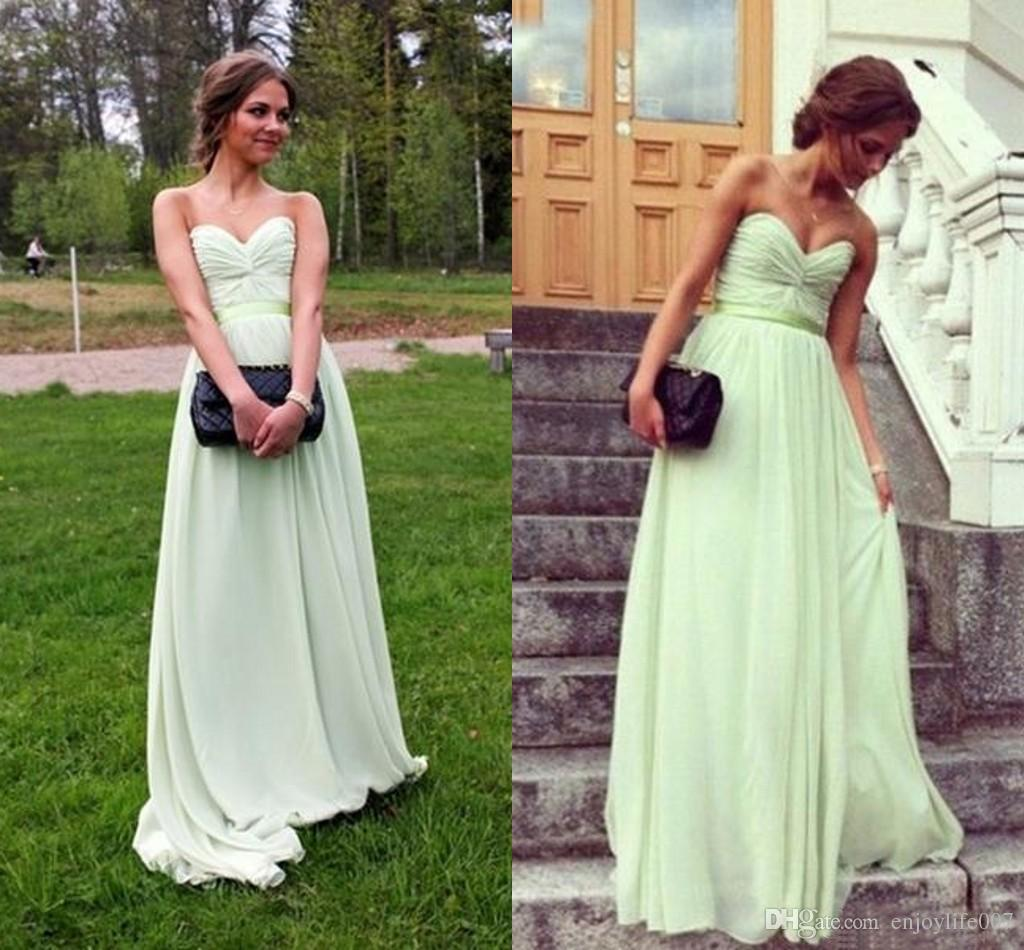2018 simple sage chiffon bridesmaid dresses for wedding guest 2018 simple sage chiffon bridesmaid dresses for wedding guest party girls cheap garden sexy sweetheart floor length elegant formal gowns bridesmaid dresses ombrellifo Gallery