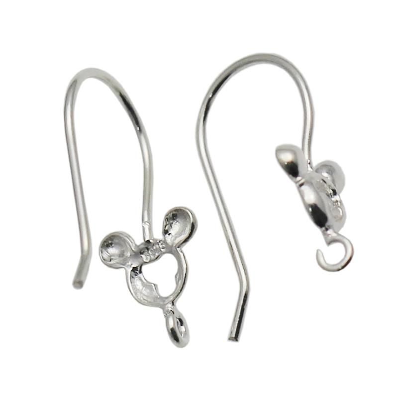 Beadsnice Handmade Jewelry Findings 925 Sterling Silver Ear Hook Earring Wires Earring Components Best Gift for Her ID 34923