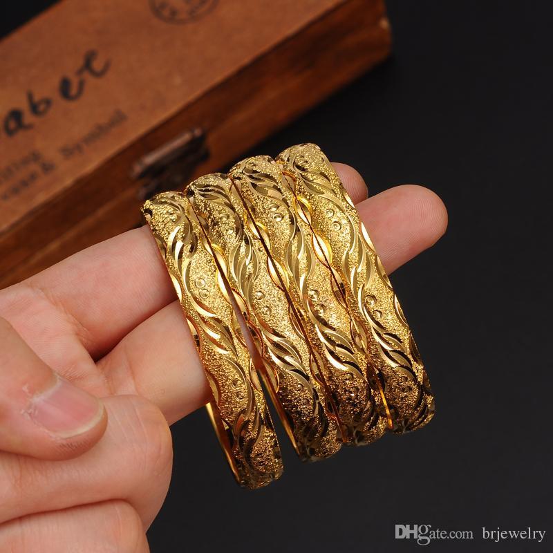 New Arrival Largo 8 MM Dubai Pulseiras De Ouro Para As Mulheres Men18k Pulseiras De Cor De Ouro Africano / Europeu / Etiópia Pulseiras Jóias