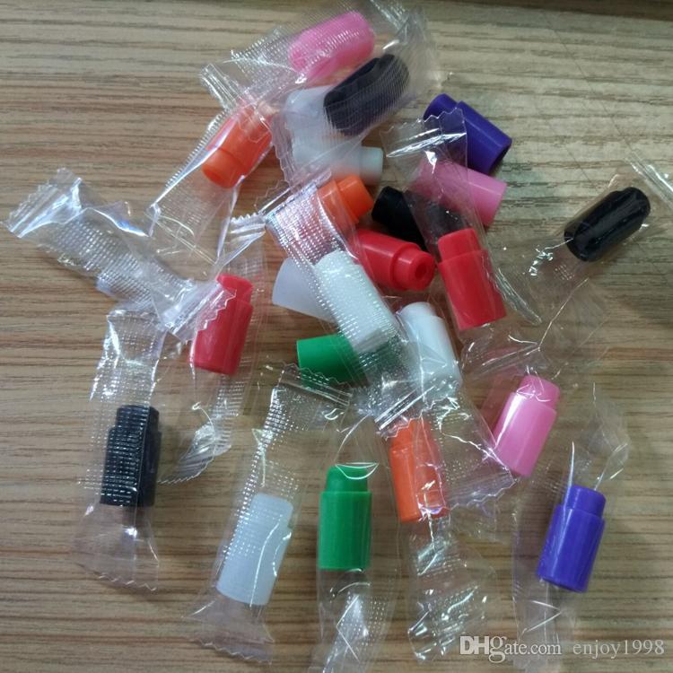 Sale Individually wrapped Non-stick Silicone 510 Drip Tip for E Cig 510 thread atomizer short disposable 510 mouth piece tester tips